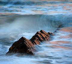 Surf, Poppit Sands 2 (stuart.hall57) Tags: sunset sea west beach wales island bay coast october rocks waves path coastal coastline rough sands pembrokeshire cardigan crashing poppit