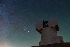 Orion Nebula over Aristarchos Telescope (Christophe_A) Tags: mountain art 35mm nikon altitude sigma greece telescope astrophotography christophe vixen d800 chelmos astrometrydotnet:status=solved 2320m christopheanagnostopoulos aristarchos polarie astrometrydotnet:id=nova1327122