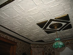 The Tin Ceiling In Our Parlor (ilgunmkr - Thanks for 3,500,000+ Views) Tags: victorian victorianhouse tinceiling 1901