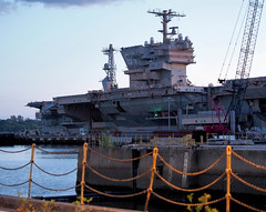 Philly Naval Yard Photo Walk (oscarpetefan) Tags: philadelphia lumix meetup pennsylvania navy olympus photowalk f28 delawareriver ep5 35100 ussjohnfkennedycv67 panasoniclens oscarpetefan