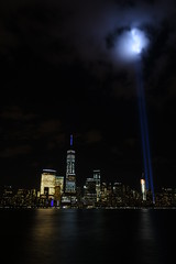 9-11 Tribute In Light 13 (Amaury Laporte) Tags: newyorkcity usa newyork unitedstates 911 landmarks northamerica tributeinlight memorials september11memorial