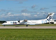 G-FLBA (AnDrEwMHoLdEn) Tags: manchester airport manchesterairport dash8 egcc flybe 23l