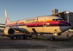 American Airlines Boeing 737-823 (N917NN) *AirCal Retro* (Michael Davis Photography) Tags: airplane photography ramp gate nashville aviation flight retro special boeing americanairlines aa bna airportgate b737 737800 boeing737 nashvilletennessee kbna nashvilleairport aircal n917nn