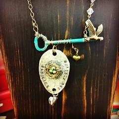 TTG (Two Twisted Gypsies) Tags: vintage gypsy bohemian repurposed ttg skeletonkeys briantice repurposedjewelry salvagedtreasures twotwistedgypsies michelletice oonjewlerly spoonjewlery michelleltice thereclaimedrose