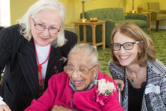 Katherine's 109th Birthday! Dianne, Katherine, and me (marylea) Tags: birthday me friendship katherine birthdayparty celebration explore dianne caring aging 109th 2015 oct13 109yearsold katherines109thbirthday