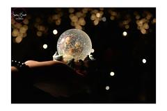 Snow globe (Marilena Zannotti) Tags: christmas light snow black glass lights snowman globe nikon shadows bokeh glob 2015 d5200