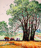 Choe Yong Sun (nokoredstar) Tags: aquarelle peinture coréedunord pyongyang paysage broderie