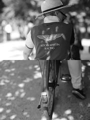 [La Mia Citt][Pedala] Aston Martin Racing (?) (Urca) Tags: milano italia 2016 bicicletta pedalare ciclista ritrattostradale portrait dittico nikondigitale mir biancoenero blackandwhite bn bw 8983 astonmartinracing