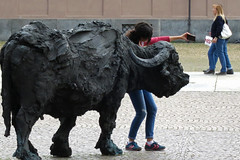Selfie con corna (giancarvedsse) Tags: torino turin piazzacastello piazzettareale bufale