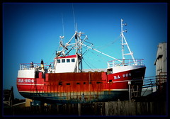 Dry Dock (Rollingstone1) Tags: boat ship fishingboat vessel drydock girvan harbour scotland skyline ba804