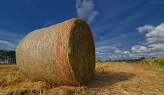 Tighty (Stievesox) Tags: hay bale country tight wheel clouds d7000 tokina 1116
