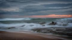 The Turmultous Sea  DSC_2824 (BlueberryAsh) Tags: kilcundabeach kilcundatrestlebridge phillipisland beach longexpsoure ndfilter 10stopndfilter nikond750 nikon24120 seascape ocean waves sunset sand surf rocks australia australianseascape stormscloudssunsetsunrise