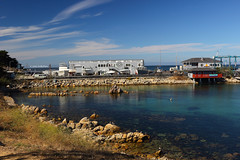Breakwater Cove (Art By Pem Photography: Tao Of The Wandering Eye) Tags: fineartphotography canon canoneosrebelsl1 eos sl1 california monterey water travel sky usa buildings rocks color colour colors colours scenery scenicsnotjustlandscapes boats marina