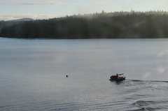 Approaching (mag3737) Tags: tender boat rescuers barrel drill bcferries shute passage