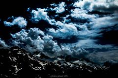 Ferie des Tnbres sur les Cimes (Frdric Fossard) Tags: surraliste art abstrait texture luminance bleu ciel tourmente paysage montagne nature glacier neige glacierdutour alpes hautesavoie massifdumontblanc lumire ombre atmosphre ambiance dramatique contraste fondnoir