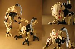 The Fierce Tribe (Count Sepulchure) Tags: lego bionicle glatorian zesk vorox tan sand sting 8983 8977