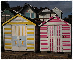 Stand out from the crowd (Stephen Braund) Tags: beachhuts essex west mersea
