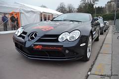 Mercedes SLR Roadster (Monde-Auto Passion Photos) Tags: auto automobile voiture vhicule mercedes slr roadster cabriolet evenement rally paris france supercar sportive