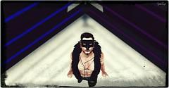 Bird_of_War_04 (Jordan Taylor [NTM]) Tags: jordan taylor jordantaylor wrestle ring nude pose posing malemodel model sexy stud belt camo boots bird war mask eagle stool indoors evening night dark grit cock hard erect touch flex