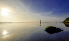 Untitled (Wouter de Bruijn) Tags: fujifilm xt1 fujinonxf14mmf28r sunrise morning dawn outdoor lake veersemeer rock water flow calm zen serene tranquil landscape nature still