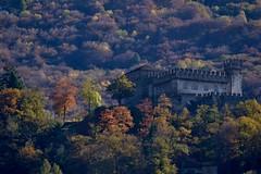 "Sasso Corbaro, Bellinzona (CortoMaltese83) Tags: bellinzona unesco bellinzonaunesco ticino storiaticinese autunno castello castle sassocorbaro svizzera switzerland nikon ""nikonflickraward"""