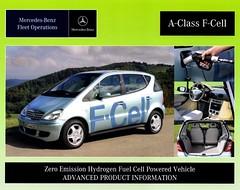 2007 Mercedes-Benz A-Class F-Cell Concept Vehicle (aldenjewell) Tags: 2007 mercedes benz aclass fuel cell concept vehicle brochure fleet operations