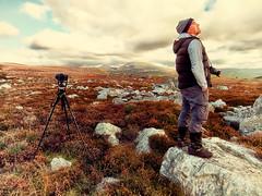 Love Life .. Love Photography! (Missy Jussy) Tags: trevorkerr man photographer people camera landscape landscapephotography nationalpark countryside rural wales gwynedd clouds sky rocks heather canon canonpowershotsx60 portrait garndolbenmaen