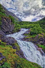 vstebrufossen (Usstan) Tags: mountainside mountainscape landscape 1685mm strynefjellet waterfall water mountains day outdoor river lens trees rocks norway seasons locations sky clouds tree stryn norge summer d7000 colors green nikkor nikon sognogfjordane valley no