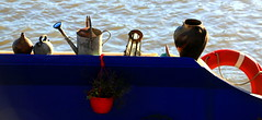 The Blue Barge (acwills2014) Tags: bristol blue barge wateringcan buoy red attractive shadows