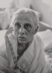 Granny! (R.Mitra aka @the.photoguy (instagram)) Tags: grandmother granny family old aged lady woman wrinkled face white saree elegant aginggracefully 50mm simple portrait naturallight nikond750
