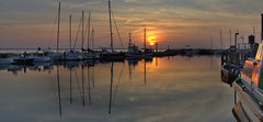 Sunset in Timmendorf (pe_ha45) Tags: sunset poel timmendorf balticsea ostsee segelboot fischkutter hafen harbour hdr