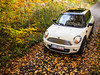 Autumn MINI (dominiczunio) Tags: mini cooper r56 pepper white 2011 autumn trees leaves backroad