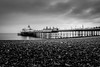 Eastbourne Pier (vichofr) Tags: eastbourne england uk europa europe inglaterra pier muelle sea seafront beach cloud clouds oceano ocean mar playa bw blancoynegro blanconegro grei canon canon6d 6d ciudad city sussex