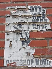 Torn Manneken Piss (Antropoturista) Tags: belgium brüssel bruxelles brussels molenbeek poster torn mannekenpiss brick semiotics