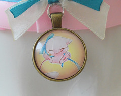 Little Mew Collar (ceressiass) Tags: mew pokemon pink blue kitten play kittenplay lolita cute kawaii neko girl boy nekogirl handmade shop etsy nekollars cgl ddlg princess sewing accessories collar choker necklace costume