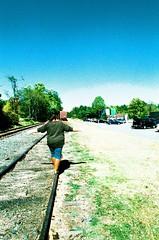 Tracks (lmills.matthew) Tags: canon ae1 program kodak elitechrome xpro mountains blue ridge georgia overexposed film analog ishootfilm filmisnotdead