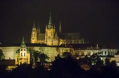 Hradany (Castle district), Prague, Czech Republic (msadurski) Tags: praga prague praha stvituscathedral hradany night