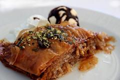 Time for a little dessert (tom.gian) Tags: baklava dessert icecream walnuts tomgian