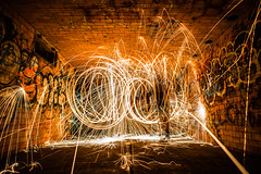 Explode (Evan's Life Through The Lens) Tags: camera sony a7rii lens glass 2470mm f28 canon zoom wide telephoto long exposure night light bright dark sparks steel wool fire amazing beautiful vibrant color orange yellow blue green autumn cold 2016