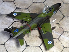 "1:72 North American (Fiat) F-86K ""Sabre"", 'SD-103' of the 2nd Flight/HvLLv 31 (Fighter Squadron 31/Hvittjlentolaivue 31), Suomen Ilmavoimat (Finnish Air Force), Karelian Air Command; Kuopio-Rissala, 1968 (Whif/modified Airfix kit) (dizzyfugu) Tags: 172 north american sabre dog f86 f86d f86k conversion whif whatif modellbau model kit vintage airfix hornby plastic finland finnish air force soumi soumen ilmavoimat kuopio rissala cold war olive green vihre mustavihre vaaleanharmaa k16 aim9 sidewinder interceptor"