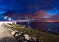 Another night at Palisadoes (Germaine Vanguard) Tags: sunrisesunsetsaroundworld water skyporn sky caribbean sea rocks waves nikond3200 sunsetsniper nikonphotography nikontop moon star longexposure nightphotography