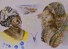 A beleza etnica das notas africanas do museu do dinheiro (miza monteiro) Tags: notas aguarela museudodinheiro sketch pintura watercolor color
