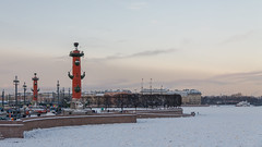 Rostral columns on the spit of Vasilievsky (Suicidal_zombie) Tags: russia russie saintpetersburg stpetersburg saint petersburg vasilyevskiy vasilievsky island spit rostral column columns rostrum tree trees granite city beautiful old town historical history light twilight sunset sky skyscape skyline cityscape landscape urban snow winter river ice frost cold chill outdoor frozen december russland