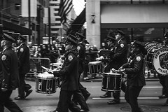 Police Band (Octal Photo) Tags: 500px new york people street group many music adult drum parade band drummer instrument police percussion monochrome black white musician outfit crowd woman man nypd department marching usa