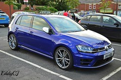 Volkswagen Golf 7 R (Eddy CJ) Tags: uk blue england sports car golf volkswagen was is high model nikon europe european with seat version performance 7 it leon german r era vehicle production a3 related photographed audi seen 7th generation compact skoda octavia 2014 pershore 2013 worldcars 2010s d5100