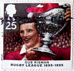 great stamp Great Britain 25p Gus Risman (Welsh rugby league footballer ; Rugby Spieler; 100th anniversary of Rugby League;) timbre UK United Kingdom stamps England selo sello stamps GB stamp Great Britain GB England UK   pullar ngiltere (stampolina) Tags: uk greatbritain red england rot sport postes rouge unitedkingdom rugby anniversary gb british welsh rosso tem commonwealth postzegel selo bolli sello sellos rugbyleague briefmarken frimrken  francobollo selos timbres frimrker  francobolli bollo zegels  zegel znaczki markica  perangko frimerker pullar timbru  grosbritannien    blyegek  antspaudai raztka