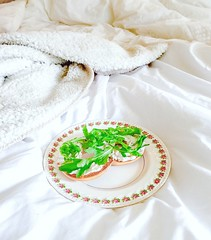 Saturday Bagel  #breakfastinbed #glutenfree (milastatham) Tags: breakfastinbed glutenfree