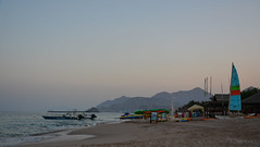 The Blue Hour (darkleen) Tags: ocean sunset sun beach uae eid fujairah
