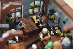 LEGO restaurant-33 (Elio7) Tags: bridge roof chimney tree restaurant starwars nikon lego harrypotter lordoftherings elio middleearth legomovie d7000