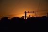 20151008_004_2 (まさちゃん) Tags: silhouette シルエット 茜色 貨物線 夕暮時